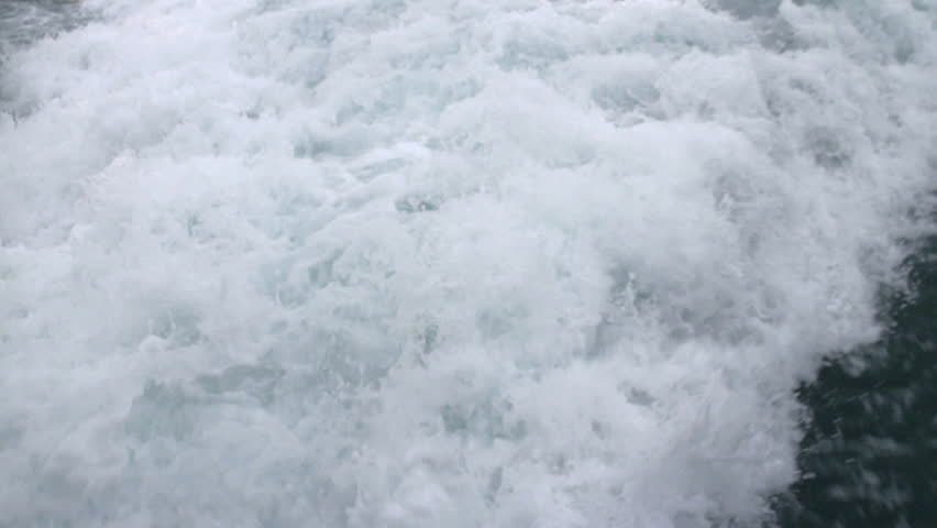 The Waves Out of the Speedboat. HD - HD stock video clip