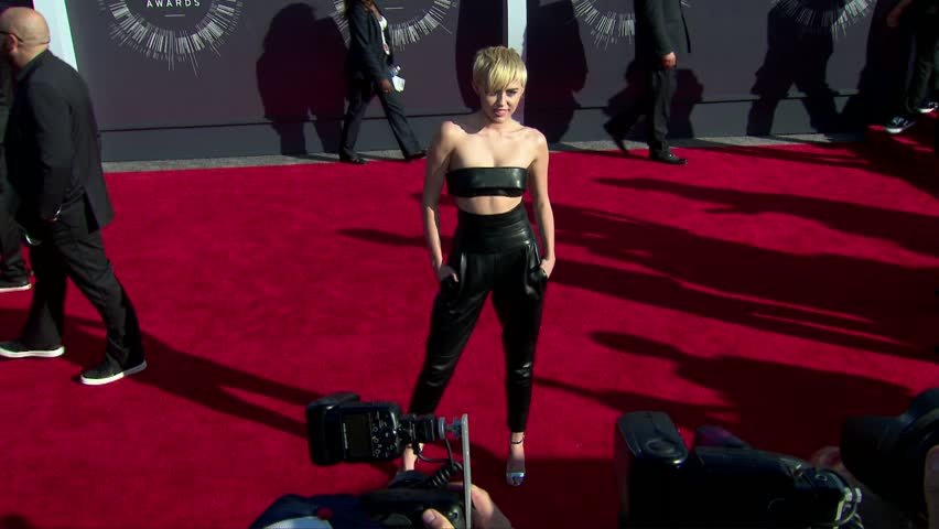 Inglewood, CA - August 24,2014: Miley Cyrus at MTV Video Music Awards 2014, The Forum