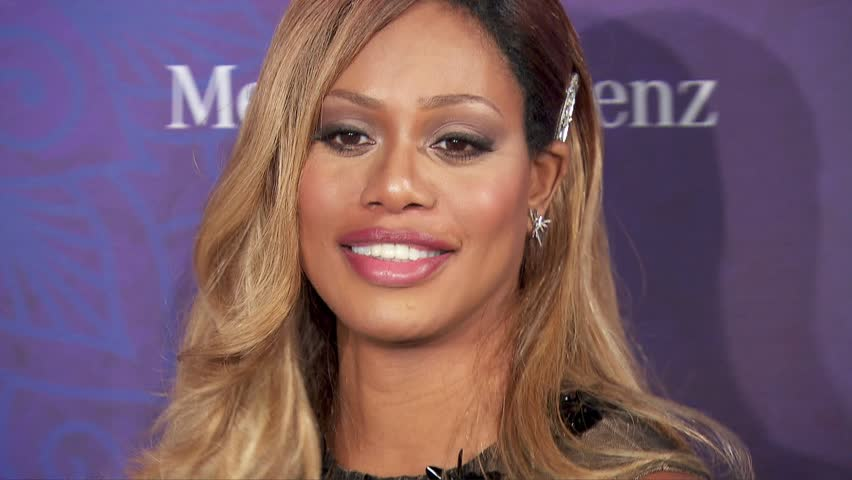 West Hollywood, CA - August 23,2014: Laverne Cox at Variety and Women In Film Pre-Emmy Party 2014, Gracias Madre