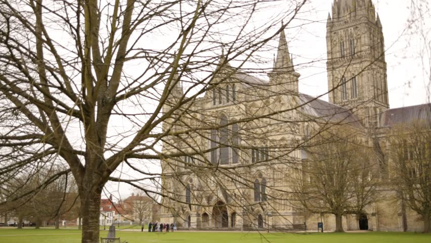 Salisbury Cathedral (Cathedral Church of the Blessed Virgin Mary): - HD stock video clip