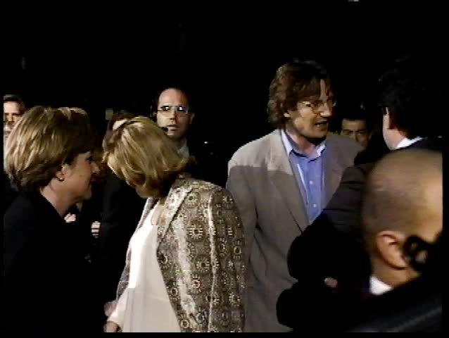 Beverly Hills, CA - December 13,1994: Liam Neeson and Natasha Richardson at Nell Premiere, AMPAS Theatre - SD stock footage clip