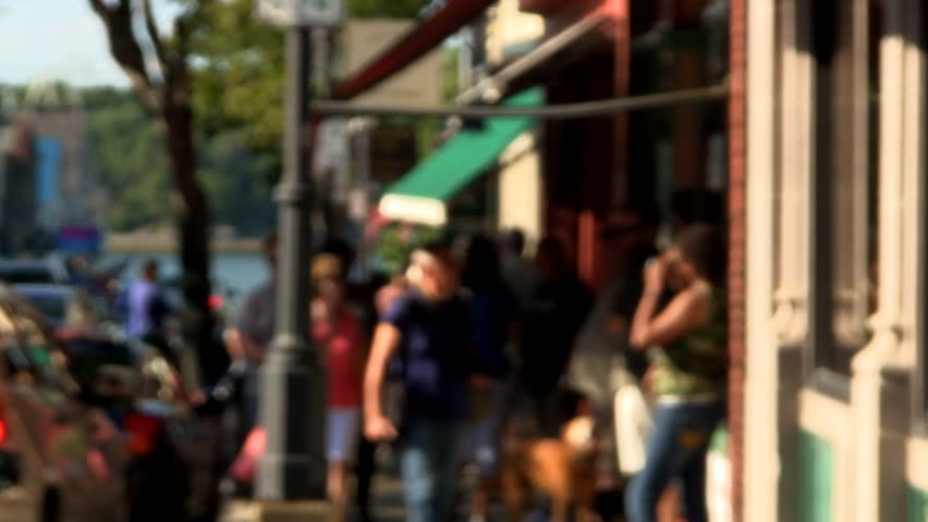 BAR HARBOR, MAINE. - AUGUST 10th;  Main Street Bar Harbor August 10th, 2014 on Prince Edward Island, Maine.  Beautiful sunny summer day in this quaint coastal village.