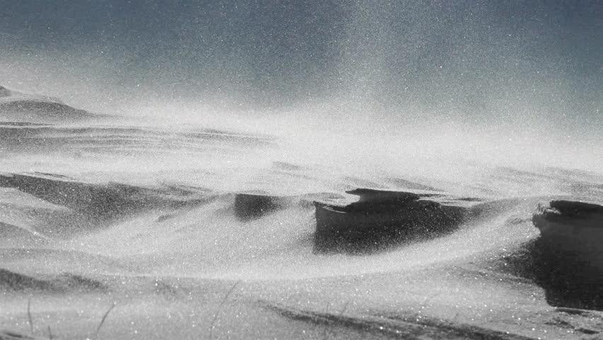 4k Arctic Alaska Storm, Snow Drift, High Wind, uhd stock video