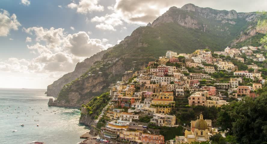Amalfi Positano Italy Travel Tourism Mediterranean Sea Coast Water Europe Landscape Village Architecture Italian Summer Town Campania Beach Mountain Vacation Naples Rock View Famous