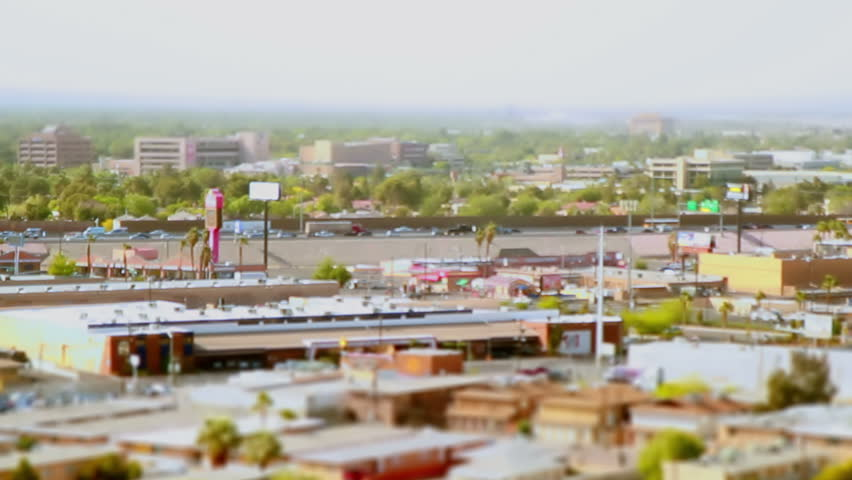 Las Vegas Tilt Shift Traffic time lapse day time  | Shutterstock HD Video #9959486