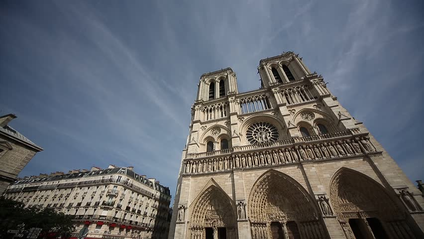 Video footage of the church Notre Dame in Paris, France | Shutterstock HD Video #9997772
